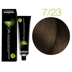 L'Oreal Professionnel INOA 7.23 (блонд перламутровый золотистый) - Краска для волос