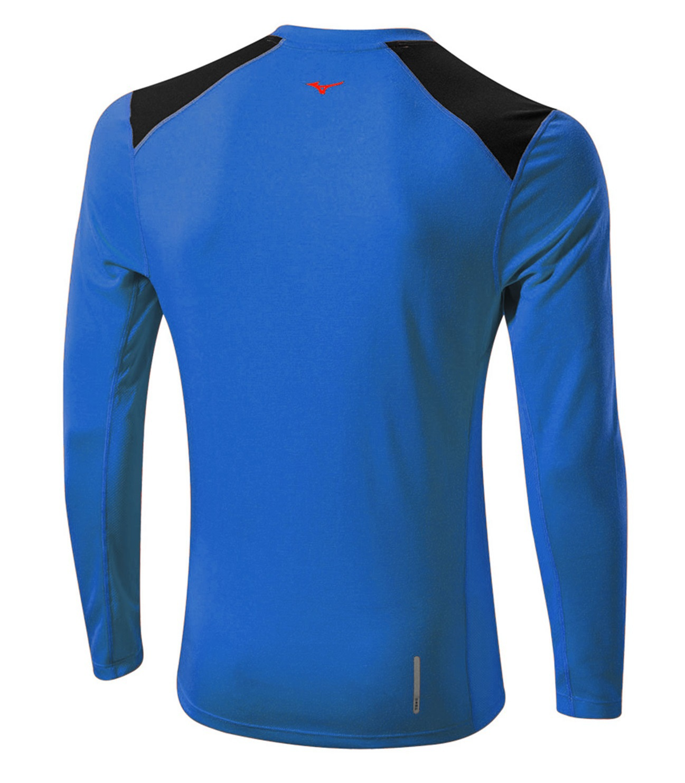 Мужская беговая рубашка Mizuno WarmaLite L/S Tee (J2GA5508 23) фото