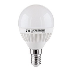 Лампа светодиодная E14 7W 3300K шар матовый mini 4690389061622