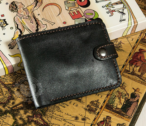 WL264-1 Мужское портмоне с монетницей из кожи ручной работы