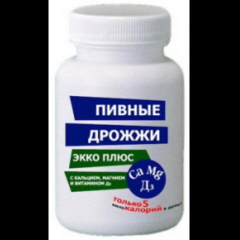 Пивные дрожжи + кальций / магний / витамин D N100