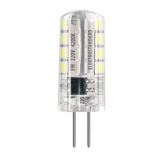 Лампа светодиодная G4 3W 3300K кукуруза прозрачная 4690389063060