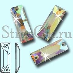 Стразы пришивные стеклянные Baguette Crystal, Багет Кристал, прозрачный яркий на StrazOK.ru