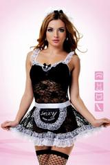 Ажурный костюм горничной для взрослых ролевых сексуальных игр