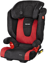 Детское кресло RECARO Monza Seatfix (материал верха Trendline Bellini Cherry/Black)