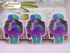 Пластиковый декор Тильда нежная аква №5