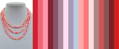 бусы розовый коралл с каким цветом сочетается - примерная палитра