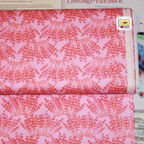 Ткань для пэчворка 20159 (лаванда на розовом)