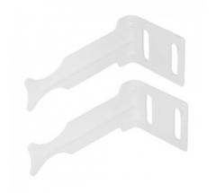 Комплект кронштейнов Global угловые белые
