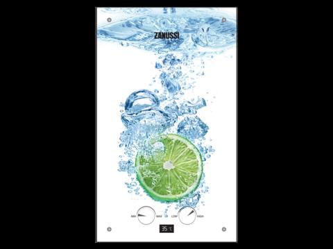 Водонагреватель Zanussi GWH 10 Fonte Glass Lime газовый проточный
