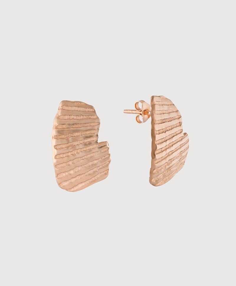 Серебряные серьги-пусеты с золотым покрытием в виде ракушек