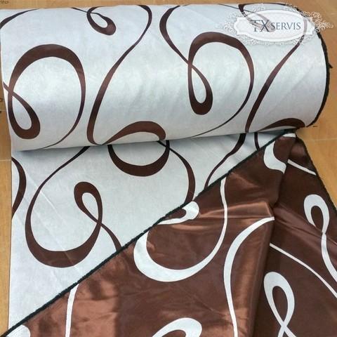 Портьерная ткань блэкаут петля коричневая. Арт. ВLU-08-1