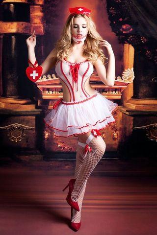 Игровой эротичный костюм медсестры Lola
