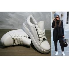 Модные кроссовки женские Molly shoes 557 Whate