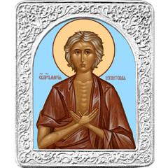 Святая Мария Египетская. Маленькая икона в серебряной раме.