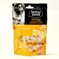 Туррон с цельным миндалем и апельсиновой цедрой Вкусы мира 50г
