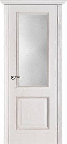 Шервуд белая патина стекло Классик m148