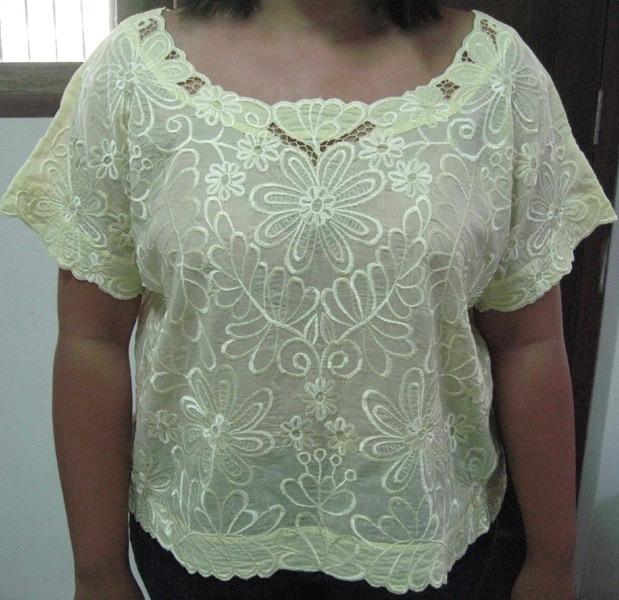 блузка Катэ желтого цвета