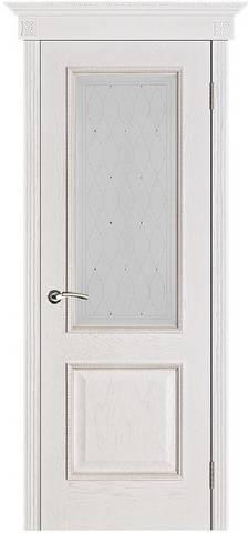 Шервуд белая патина стекло Роса m572