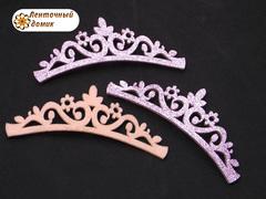 Заготовка Корона цветочная перфорация розовая