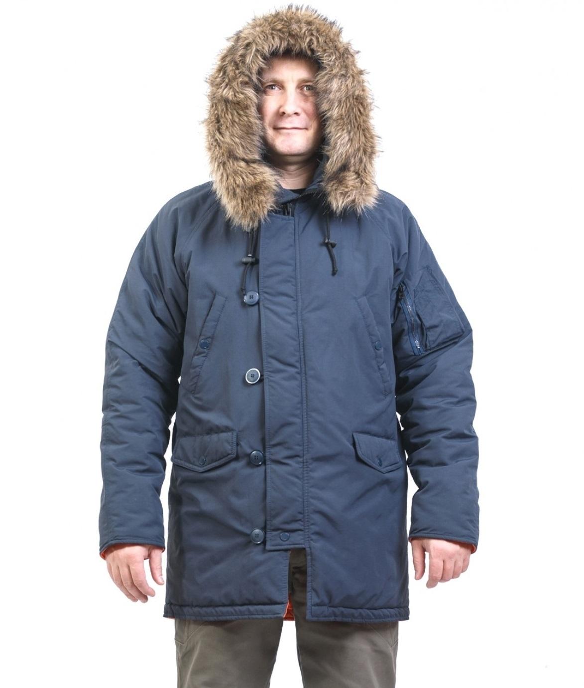 7de2b702ad9 Зимняя Куртка Парка «Аляска» синяя Купить В Розницу Дешево В ...