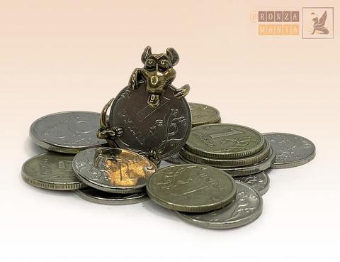 денежная Мышка с настоящим рублем