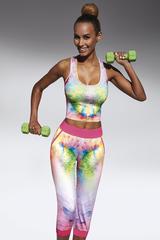 Разноцветная майка для фитнеса 200 den