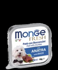 Monge Dog fresh влажный корм для собак с уткой 100гр.
