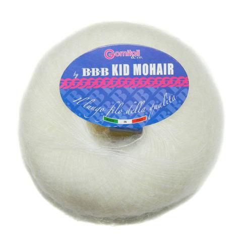 Купить Пряжа BBB Kid mohair Код цвета 0100 белый | Интернет-магазин пряжи «Пряха»