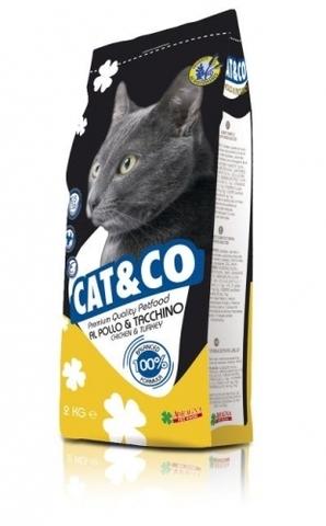 Корм для кошек Adragna Cat&Co Chicken&Turkey (2 кг)
