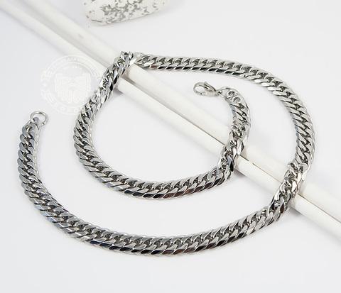 PM241 Стильная мужская цепочка из ювелирной стали (60 см)