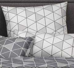 Наволочка 50x70 Elegante Triangel серый