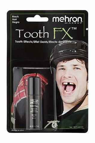 MEHRON Краска для зубов Tooth FX with Brush for Special Effects - Black (Черная), 4 мл