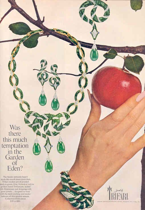 Браслет Trifari из коллекции Garden of Eden 1968 года