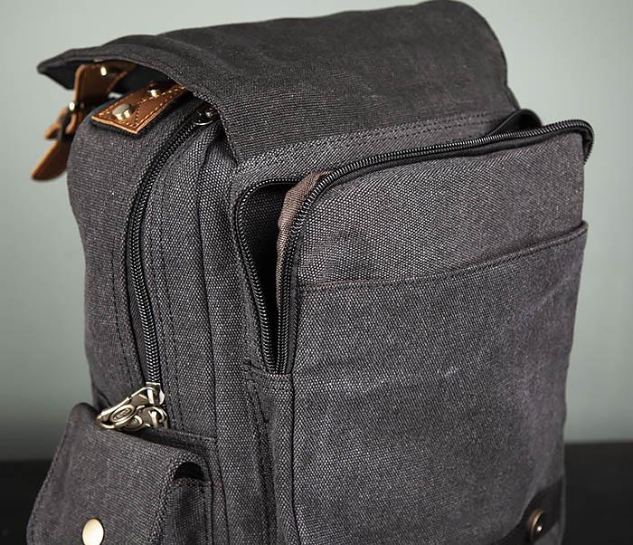 BAG394-1 Черный компактный рюкзак с одной лямкой через плечо фото 11