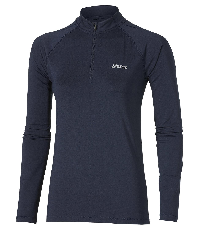Беговая рубашка Asics LS  Zip Top женская (110425 8124) navy