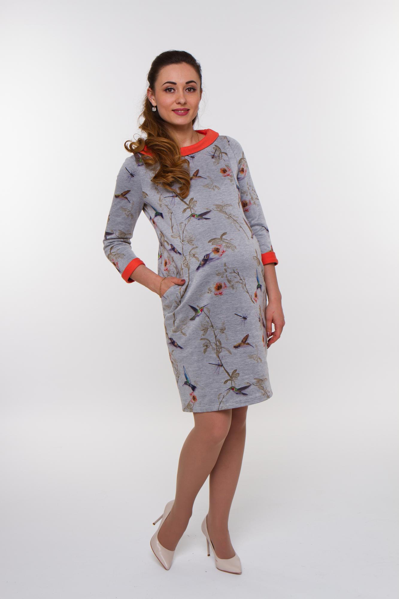 Платье 09917 оранжевый