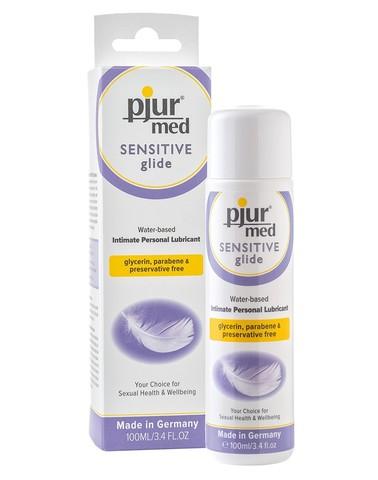 pjur med  SENSITIVE glide 100 мл - самый безопастный из серии Pjur Med для самой чувствительной кожи