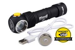 Налобный фонарь Armytek Wizard Pro Magnet USB XHP50 (тёплый свет)+18650 Li-Ion