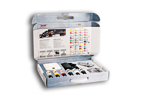Набор AIR BRUSH STARTER ULTRA, компрессор, набор красок, очиститель, шланги, DVD