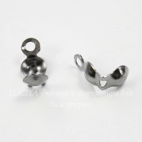 Каллоты 8х4 мм (цвет - черный никель), 20 штук