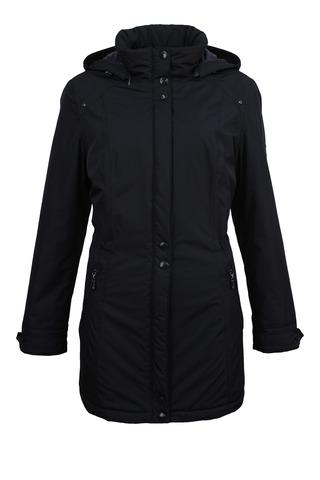 Длинная синяя куртка с капюшоном Barbara Lebek арт. 10890018