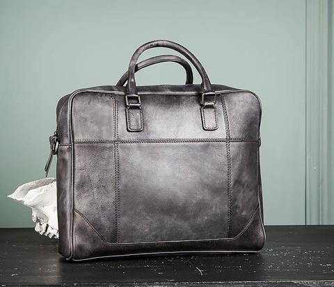 Мужская кожаная сумка портфель с ремнем