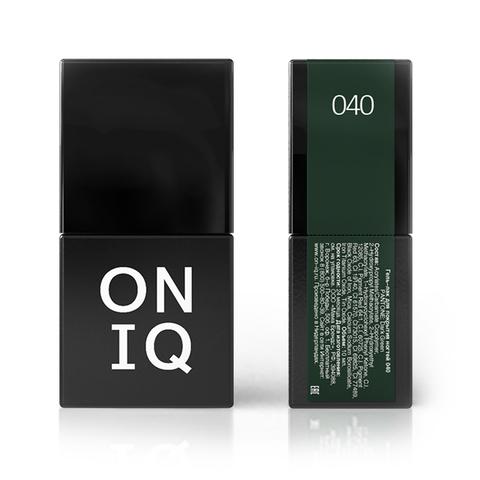 Гель-лак ONIQ - 040 Dark Green, 10 мл