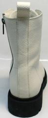 Женские берцы зимние модные Ari Andano 740 Milk Black.