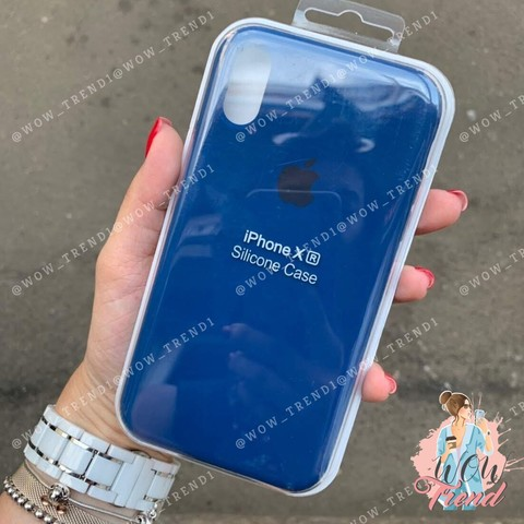 Чехол iPhone XR Silicone Case /delft blue/ голландский синий original quality