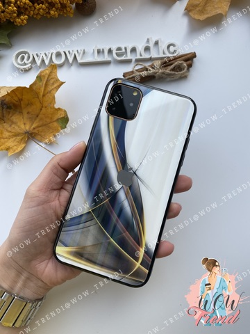 Чехол Iphone 7+/8+ Glass Polaris Smoke /black/