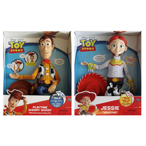 Toy Story 3 Woody & Jessie Pull String Talking