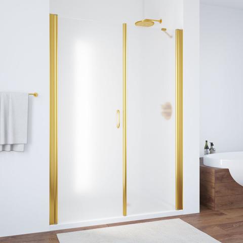 Душевая дверь в нишу Vegas Glass EP-F-2  профиль золото, стекло сатин