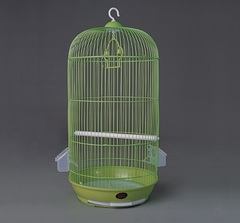 N1 Клетка для птиц 33*67 см  круглая зеленая
